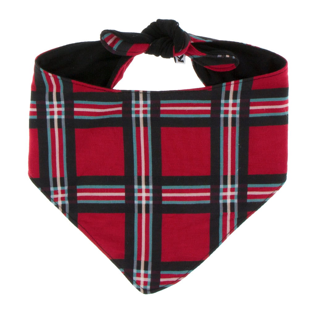 Print Dog Bandana in Christmas Plaid (S)