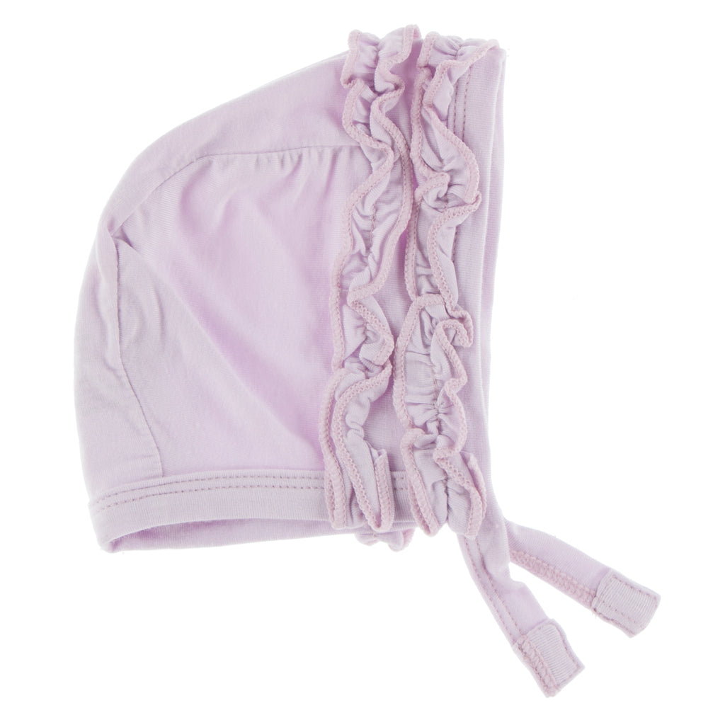 Solid Ruffle Bonnet in Thistle