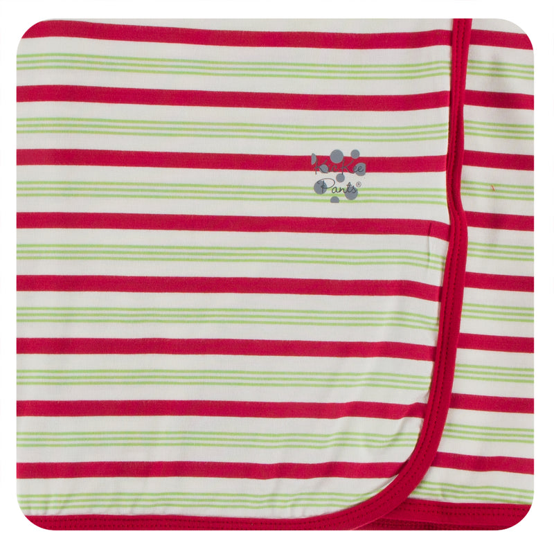 **2nd Delivery**Print Swaddling Blanket (2020 Candy Cane Stripe - One Size)