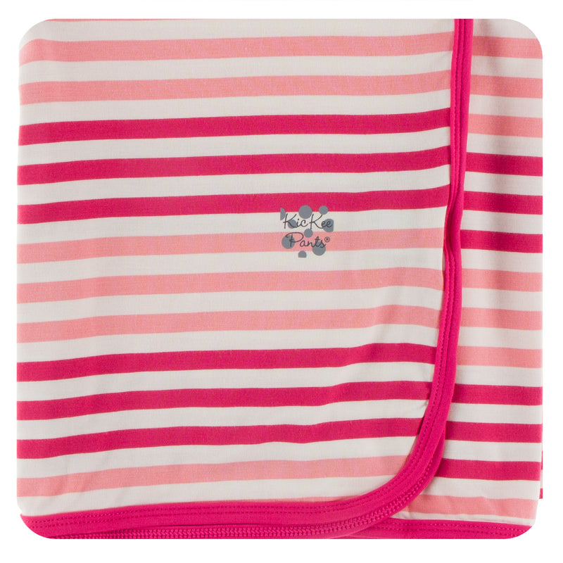 Print Swaddling Blanket in Forest Fruit Stripe