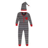 Holiday Organic Women's Onesie & Cap Set in XOXO Fair Isle Stripe