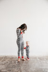 Holiday Long Sleeve PJ & Cap Set in XOXO Fair Isle