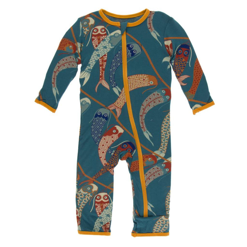 Print Coverall with Zipper- Oasis Koinobori (5Y)