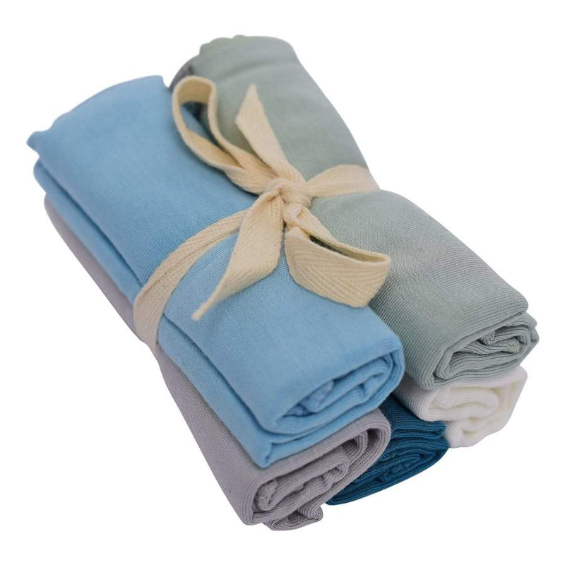 Solid Washcloth Combo 5 pack in Boy