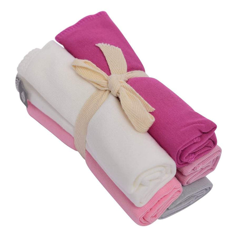 Solid Washcloth Combo 5 pack in Girl