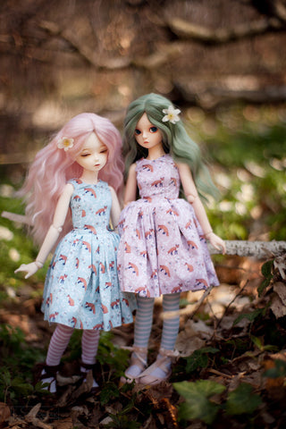 Forest Tales in pastel dress SD / MSD and MNF / Yo-SD / Blythe