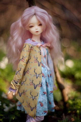 Forest Tales in pastel cardigan SD / MSD and MNF / Yo-SD / Blythe