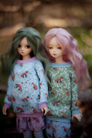 Forest Tales in pastel tunic SD / MSD and MNF / Yo-SD / Blythe