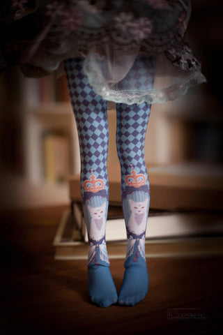 Cats in Blue BJD stockings SD / MSD / Blythe / Yo-SD / Monster High