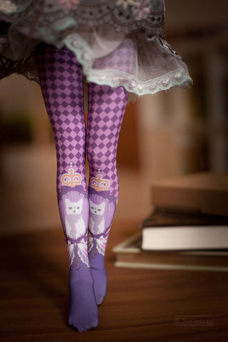 Cats in Lilac BJD stockings SD / MSD / Blythe / Yo-SD / Monster High