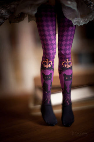 Cats in Purple BJD stockings SD / MSD / Blythe / Yo-SD / Monster High