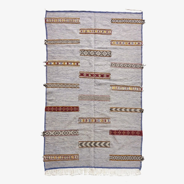 "Caravan I Wool & Cotton Kilim - 5'-0"" x 8'-5"""