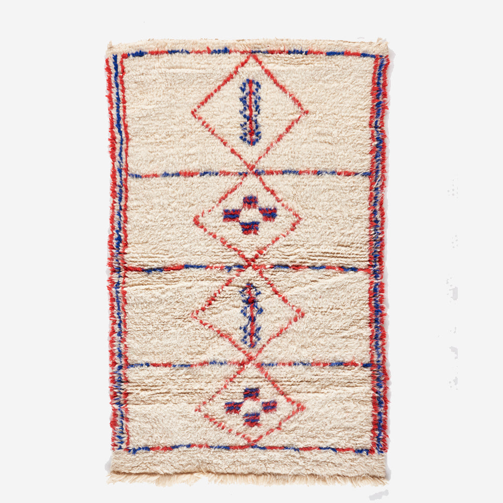 "Lucy I Beni Ourain Rug - 2'-9"" x 4'-5"""