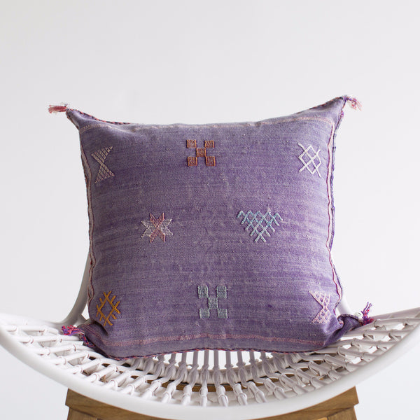 Amethyst I Sabra Silk Pillow