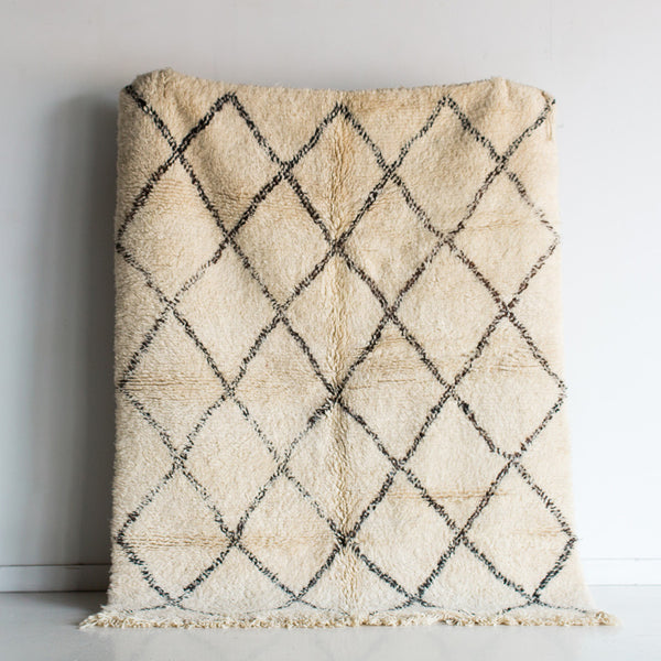 Criss Cross VI Thick Pile Beni Ourain Rug