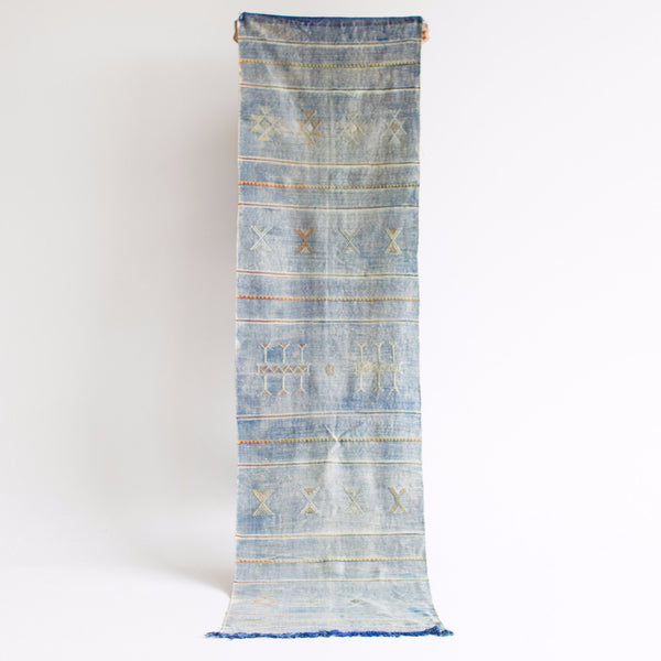 "Denim Sabra Silk Runner - 2'-4"" x 9'-0"""