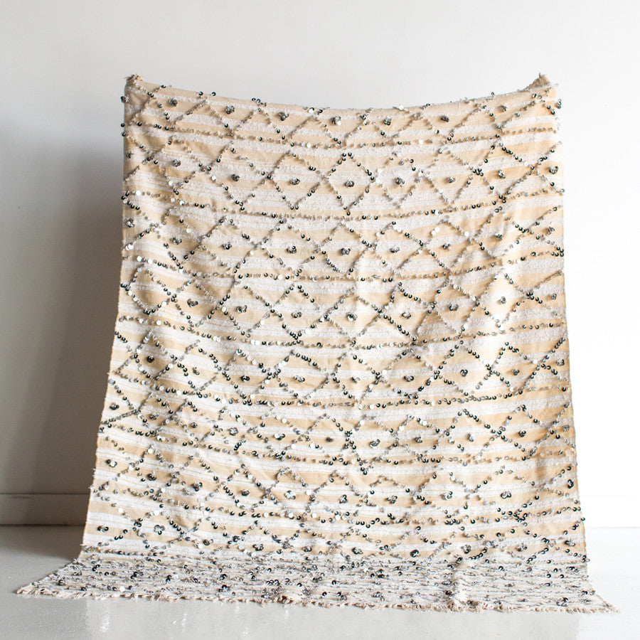 Diamonds in the Sky Wool Wedding Blanket