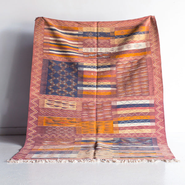 Mountains and the Sea Wool Kilim