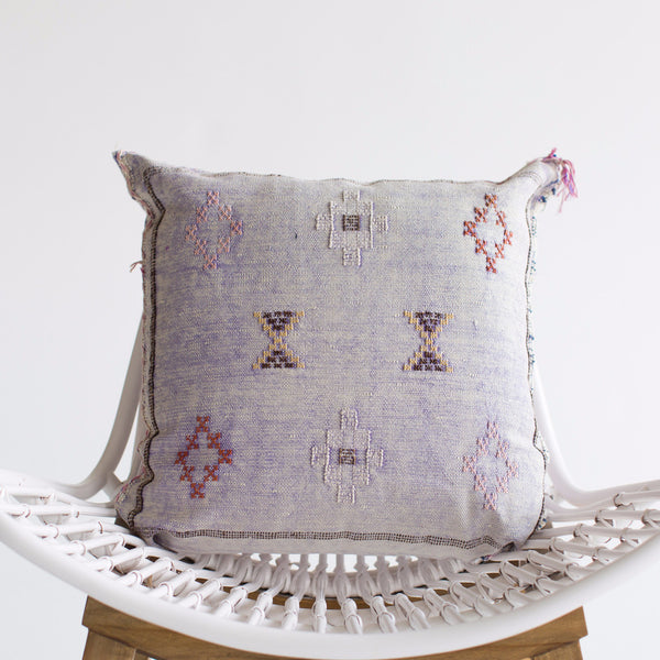 Lavender Sabra Silk Pillow