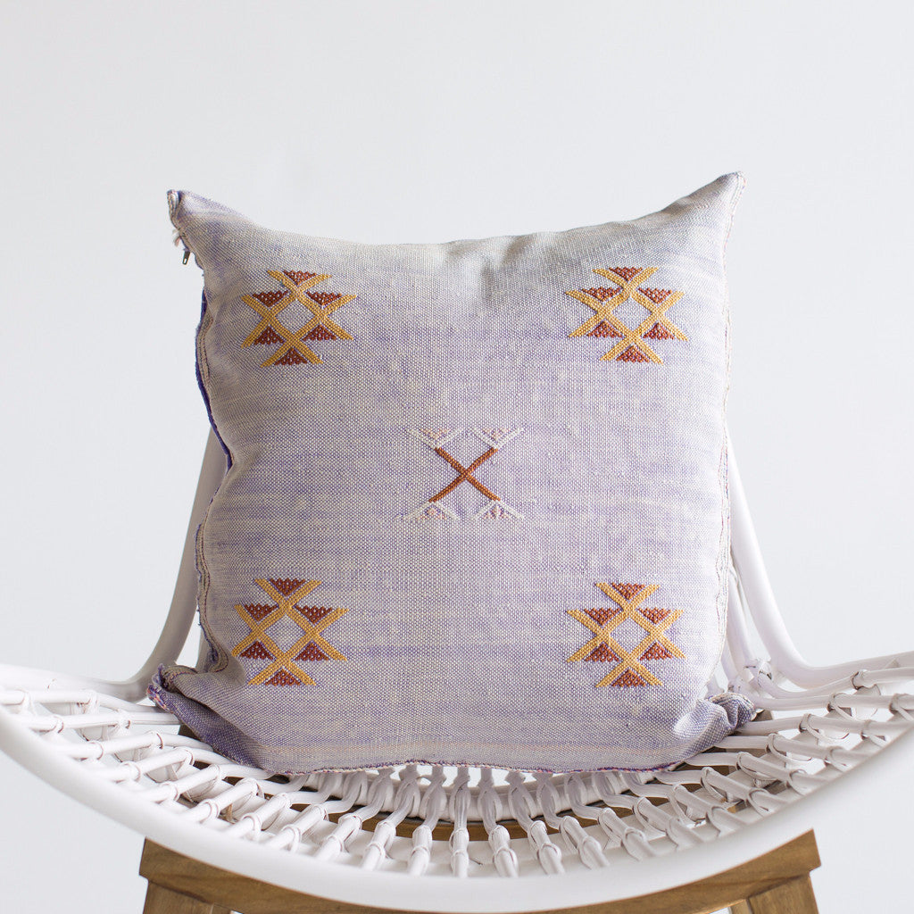 Lilac Sabra Silk Pillow