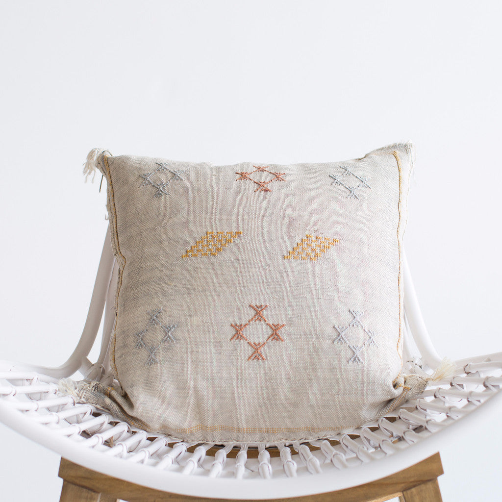 Mist Sabra Silk Pillow