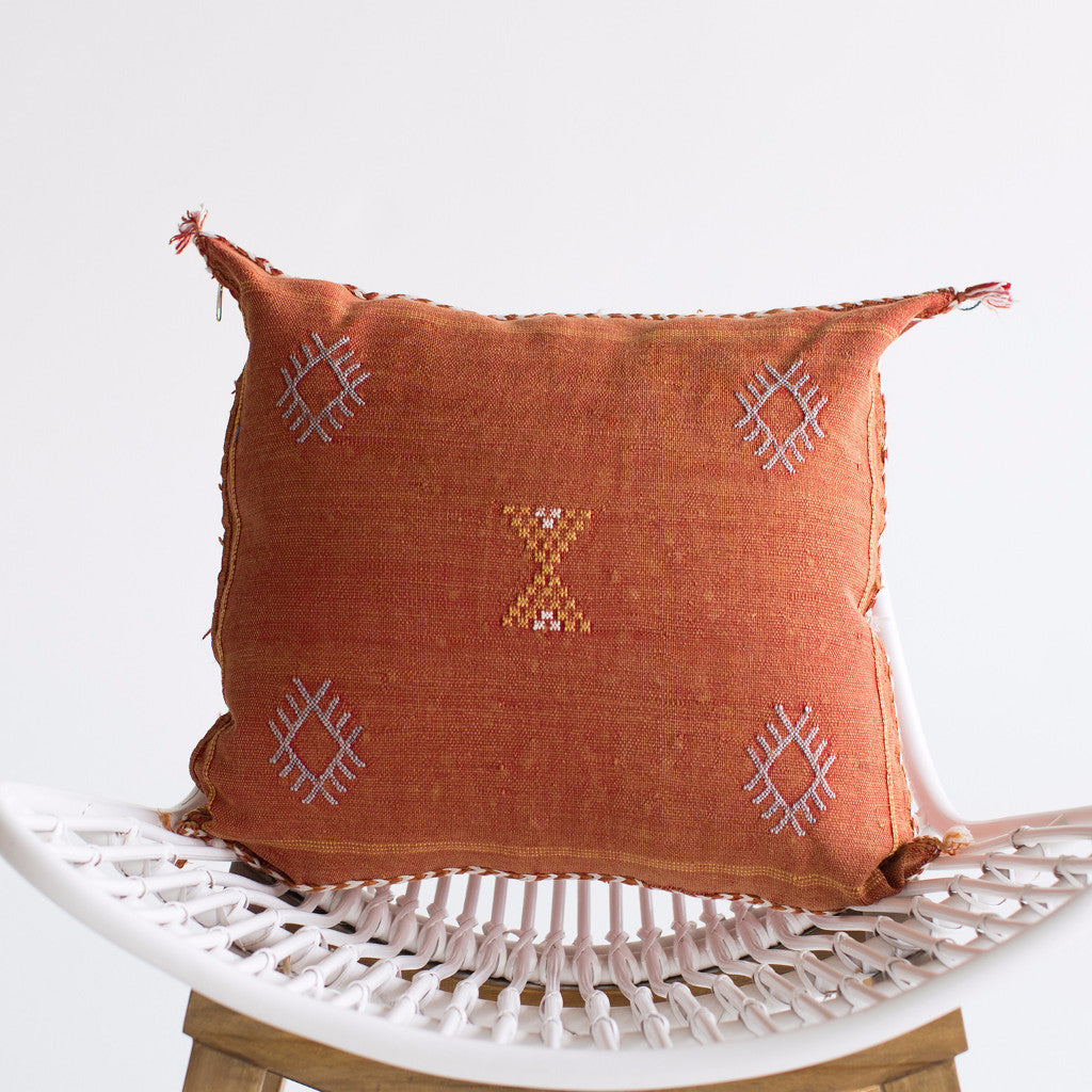 Persimmon Sabra Silk Pillow