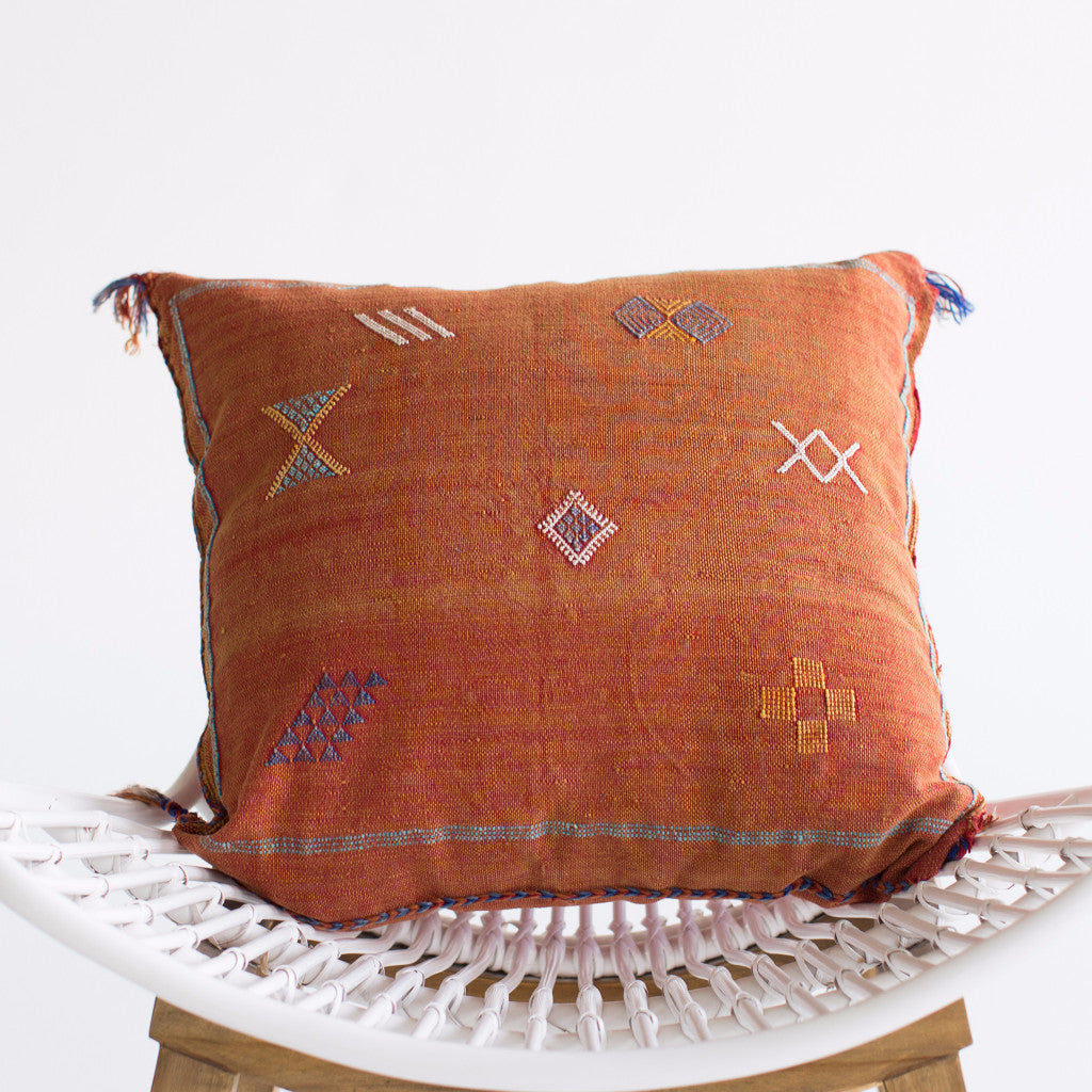 Rust Sabra Silk Pillow