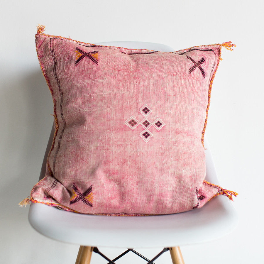 Rosa Sabra Silk Pillow