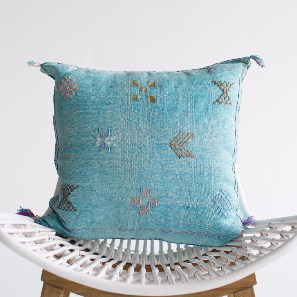 Sky II Sabra Silk Pillow