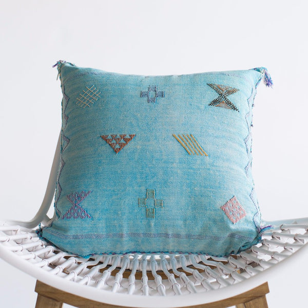 Sky I Sabra Silk Pillow