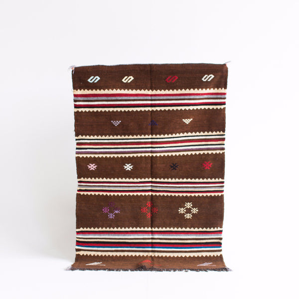 "Tribesmen Brushed Cotton Kilim - 3'-2"" x 4'-9"""