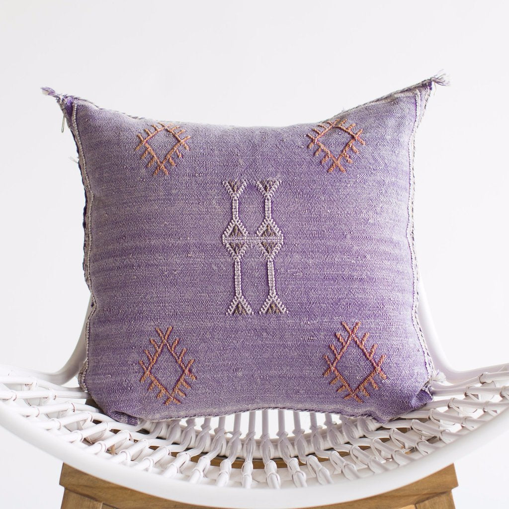 Violet Sabra Silk Pillow