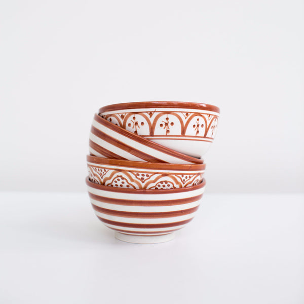 Hand-Painted Ceramic Soup Bowls - Marsala (Set of 2)