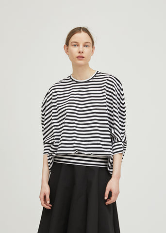 Cotton Jersey Striped Top