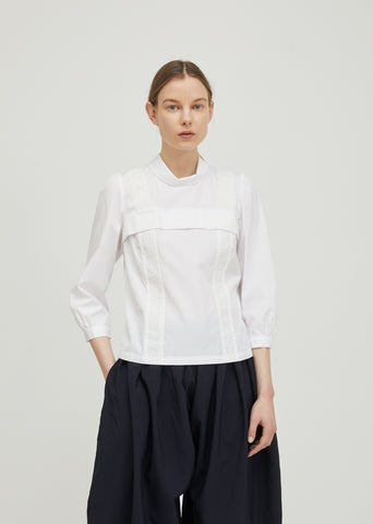 Cotton Broad Turtleneck Top