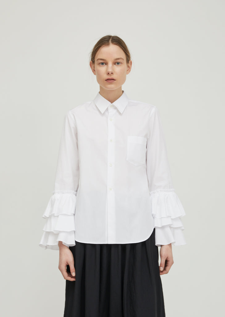 Cotton Broad Tiered Shirt