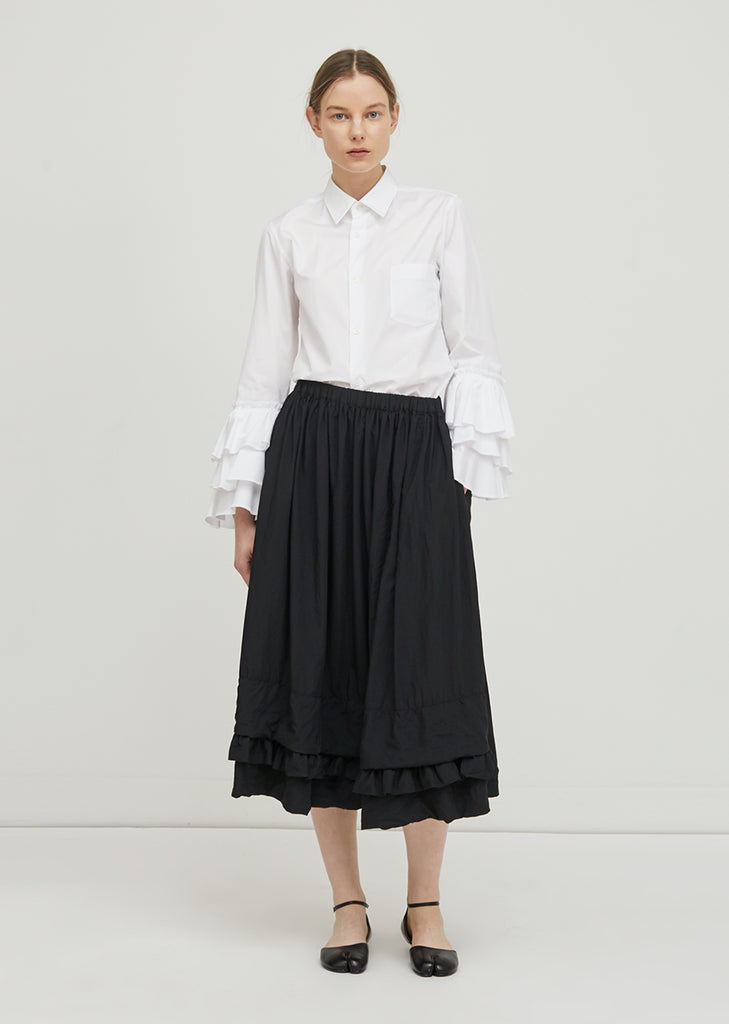 Broad Garment Treated Skirt