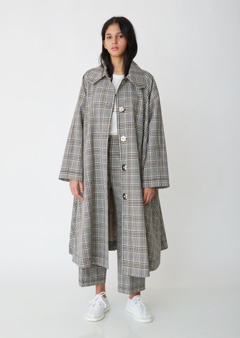 Check Swing Coat