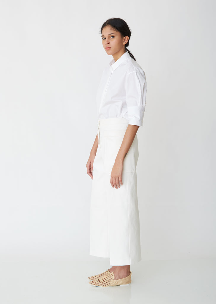 Gaston Cropped Trousers With Front Pockets