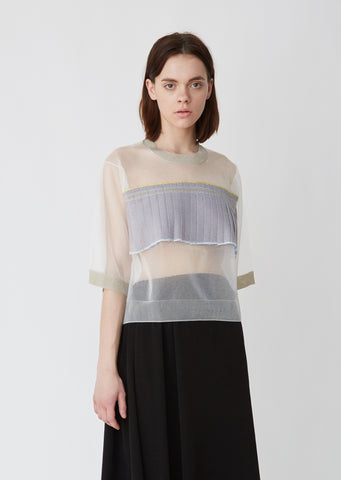 Transparent Pleated Sweater