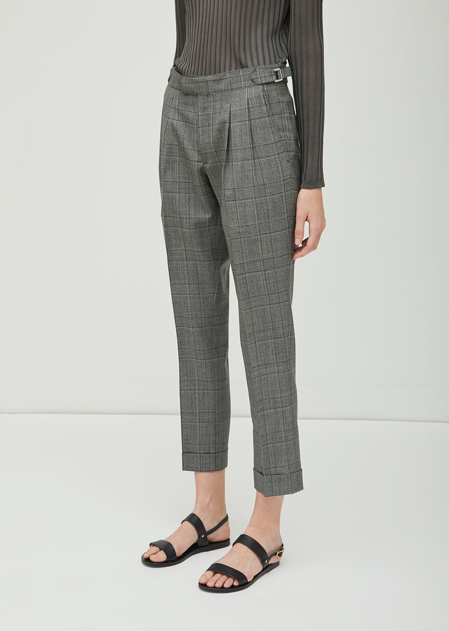 June Houndstooth Wool Trouser