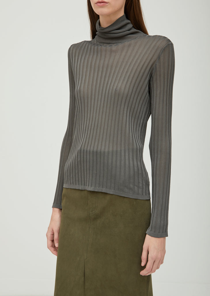 Emma Ribbed Turtleneck