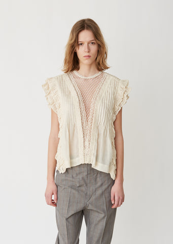 Roya Madonna Lace Top
