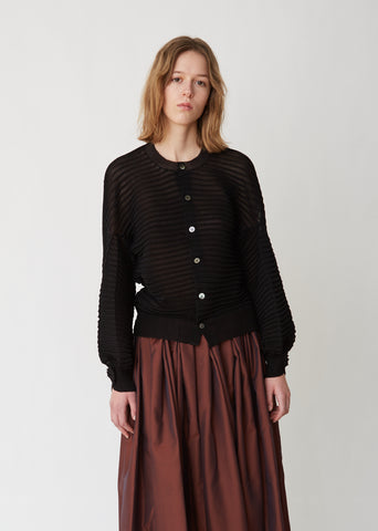Pin Tuck Pleated Cardigan
