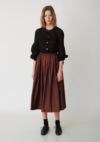 Chambray Twill A–Line Skirt