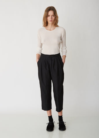 Twill Garment Treated Pleated Pants