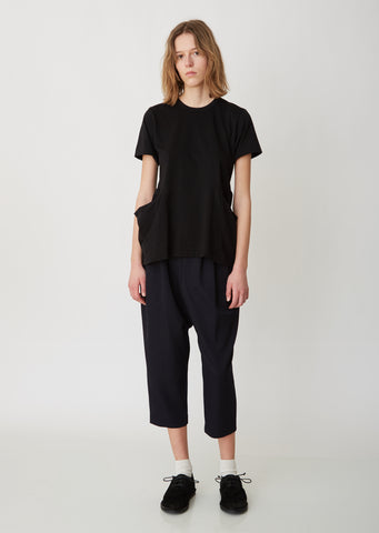 Wool Gabardine Cropped Pants