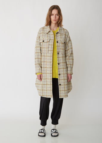 Oario Checked Bouclé Coat