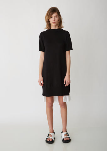Knit x Shirting Dress