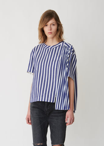Solid x Stripe Shirting Top